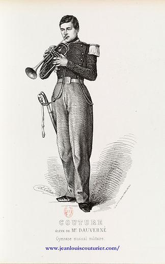 Lithographie d'Alexandre Collette (1814-1876) COUTURE, élève de M. Dauverné (Gymnase musical militaire)