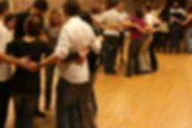cours de danse irlandaise dans la salle de dansedu fort de Mons-en-Baroeul