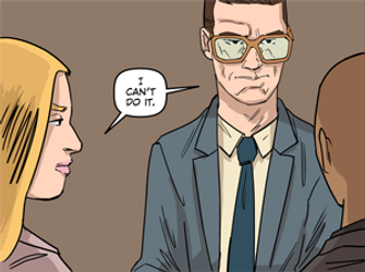 Neither Daniel nor Jen can't do anything unethical in RIGHTEOUS Comic