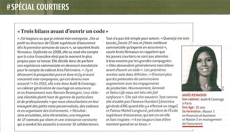 Article Audit & Coverage dans le magazine l'Argus de l'Assurance