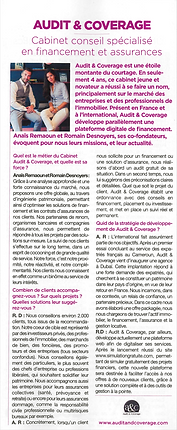 Article Audit & Coverage dans le magazine Management