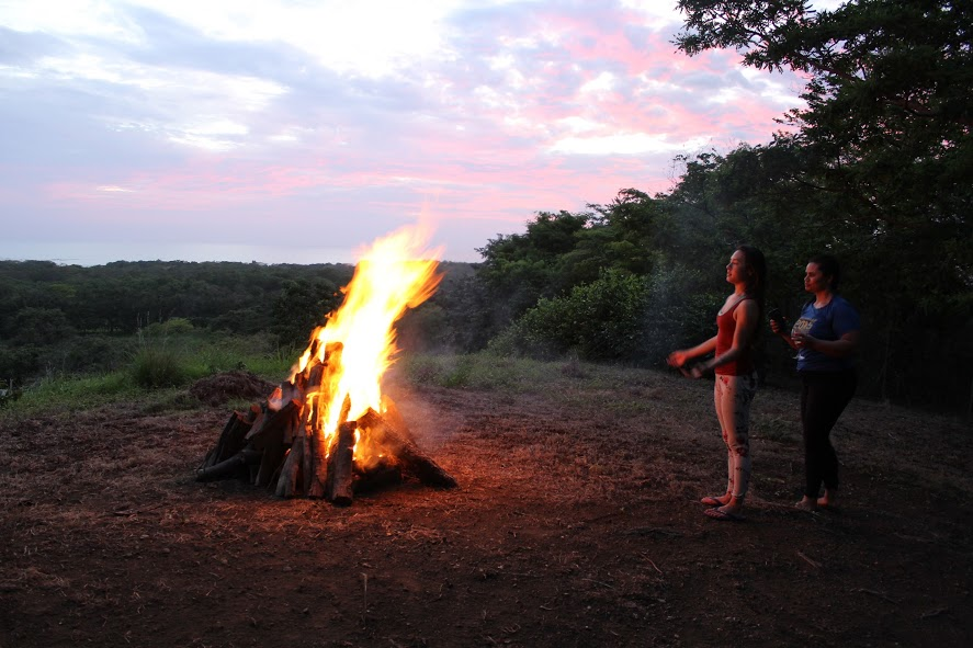 Bon Fire in Guanacaste, Costa Rica.