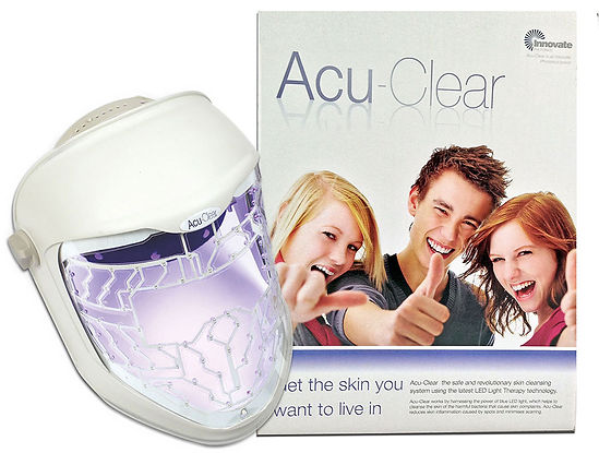 Acu-Clear Blue light LED facial therapy clear skin, help acne, anti-scarring