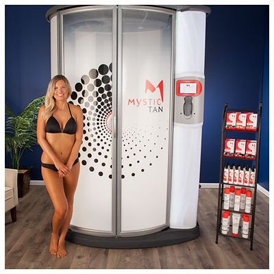 Mystic sunless automated spray tan booth
