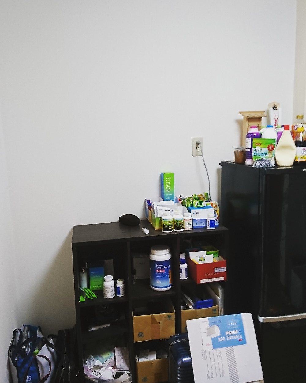 棚に入り切れていない雑多な収納