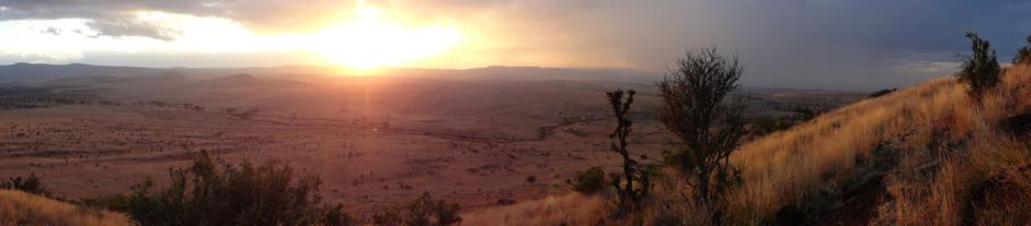 Lewa sunset, Sirikoi Hill