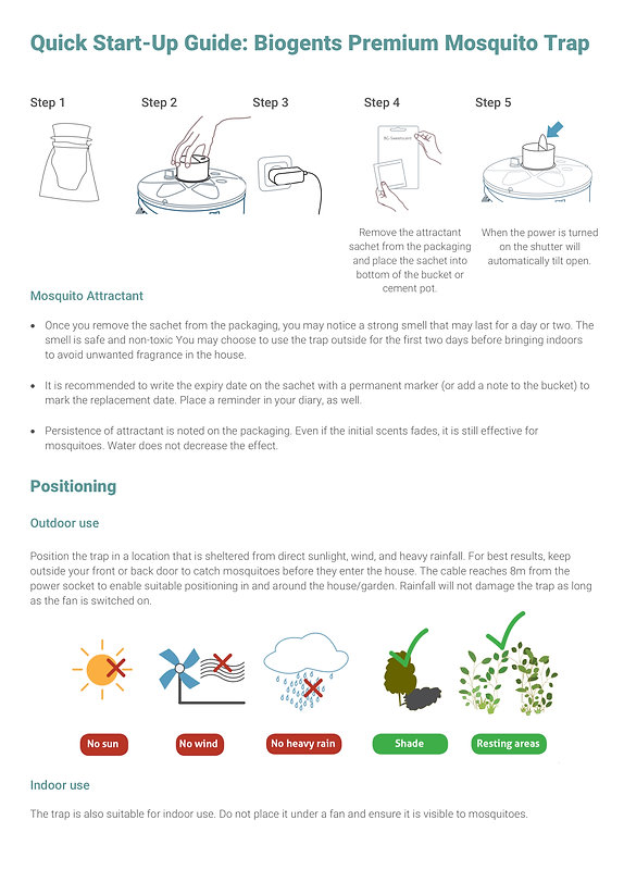 Quick Start-Up Guide Biogents Premium Mo