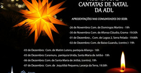 Agenda das Cantatas de Natal da ADL em 2017