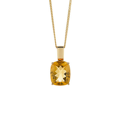 Citrine Pendant and Chain
