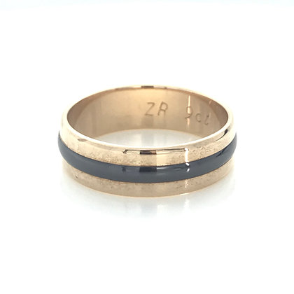 Rose Gold and Zirconium Ring