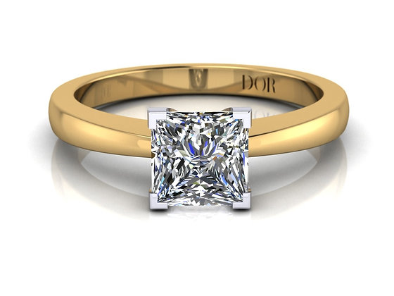 Proposal Ring - Victoria (yellow / white gold)