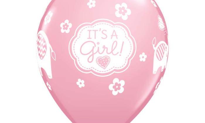11in It's a Girl! Latex