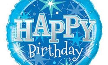 36in HBD Birthday Blue
