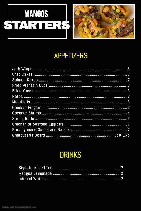 Menus_Appetizer - Made with PosterMyWall