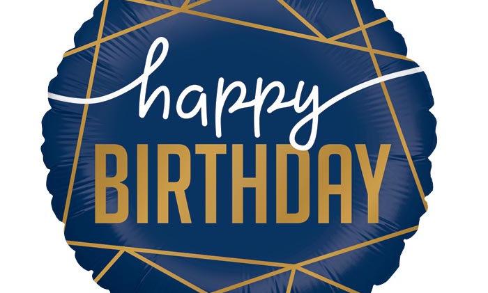 18in Happy Birthday Balloon