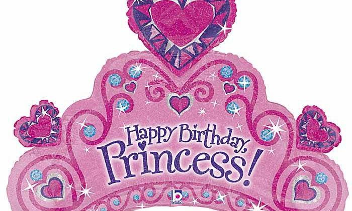 34in HBD Princess