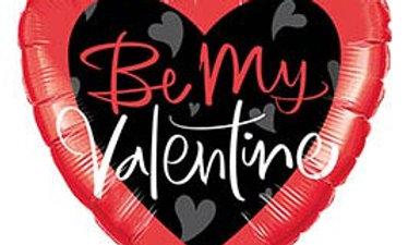 18in Be My Valentine Script Heart