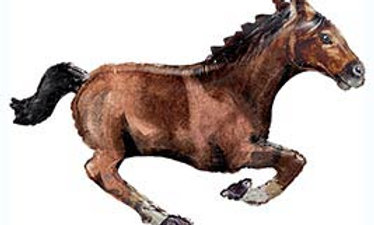 40in Galloping Brown Horse