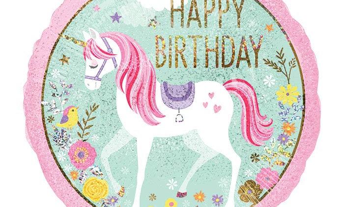 18in Birthday Magical Unicorn Balloon