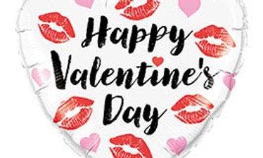 18in Valentine's Kissey Lips Heart