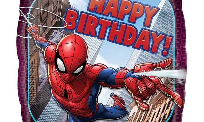 17in HBD Spider-Man Birthday