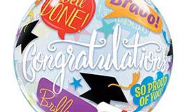 22in Graduation Accolades Bubble