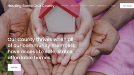 Housing Santa Cruz County website: Implementing the right solution