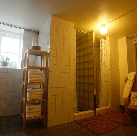 Showers by Sauna