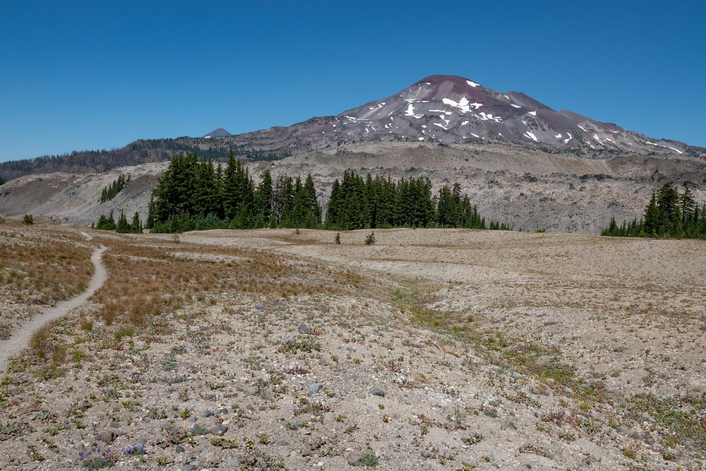 Photo of South Sister and Wickiup Plain