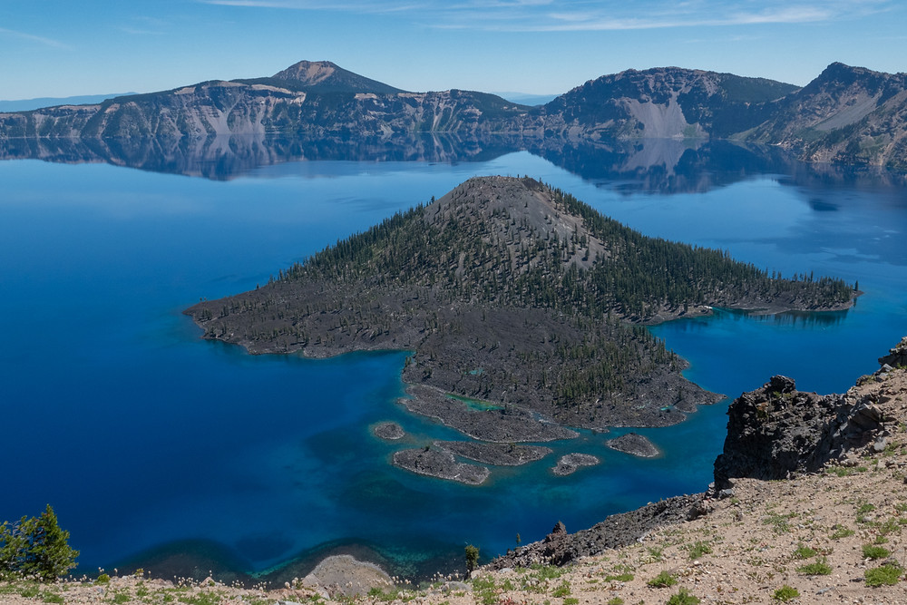 Photo of Crater Lake and Wizard Island