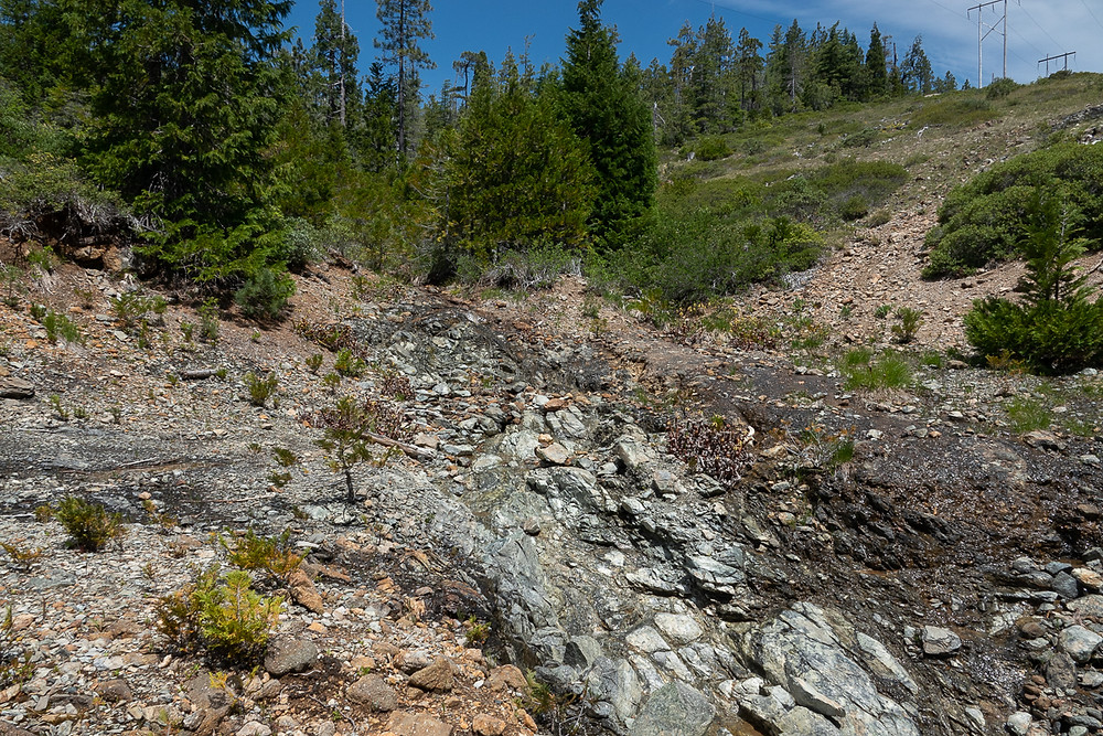 "A photo of the Shelly Creek ""Slab"" on Oregon Mountain"