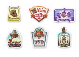 The Titans of Taste Stickers