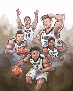 Purdue Athletics Poster