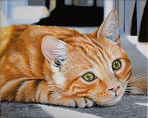 Canicule (acrylique sur toile: 24 cm x 19 cm)