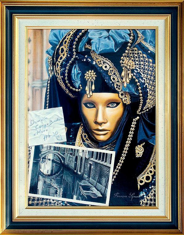 Le rendez-vous manqué: acrylique sur toile (24 cm x 33 cm)