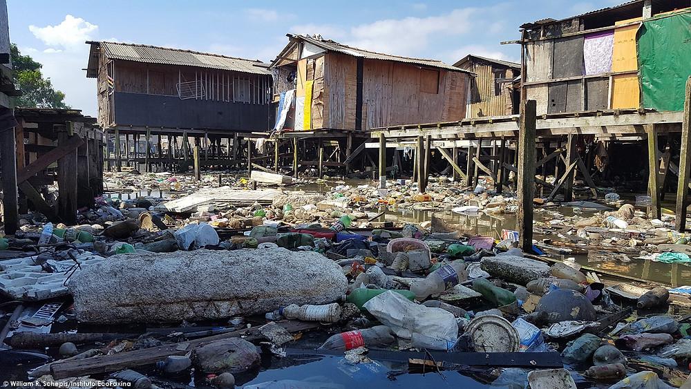 Rio dos Bugres, Santos - São Vicente: imagens de monitoramento ambiental realizado em 26/04/2018.