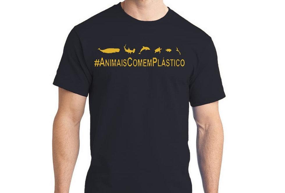 Camiseta #AnimaisComemPlástico