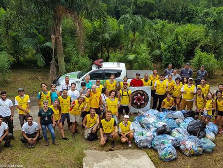 Voluntários retiram 165 kg de lixo do Parque Ecológico do Rio Perequê, em Cubatão