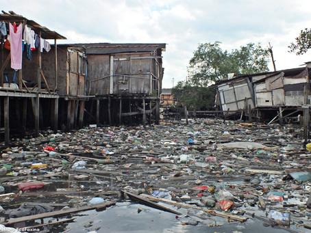 No bairro da Vila Gilda em Santos o mangue pede socorro
