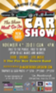 CAR SHOW POSTER w BAND w SPONSORS-NOV 4T