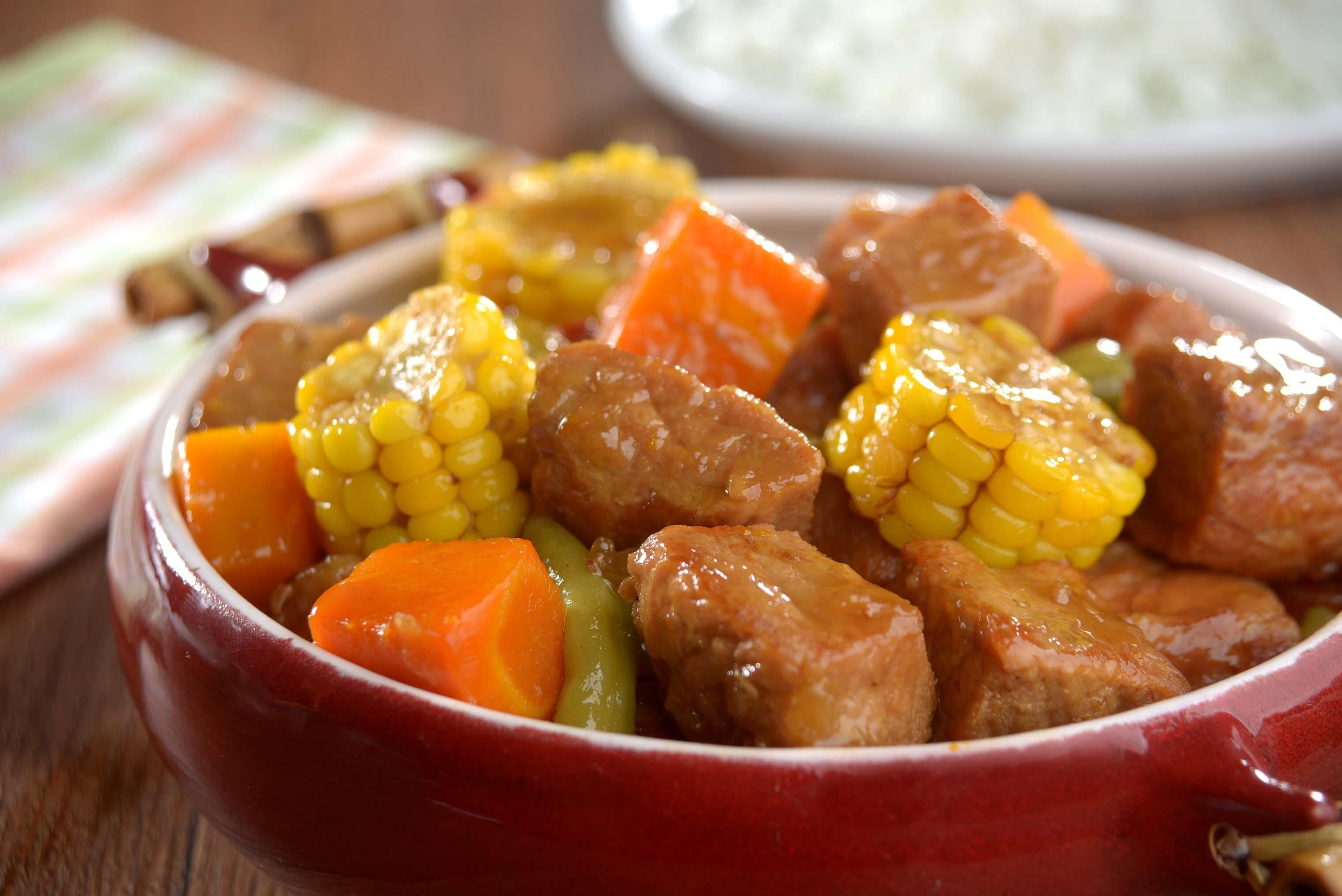 Carne de panela com milho