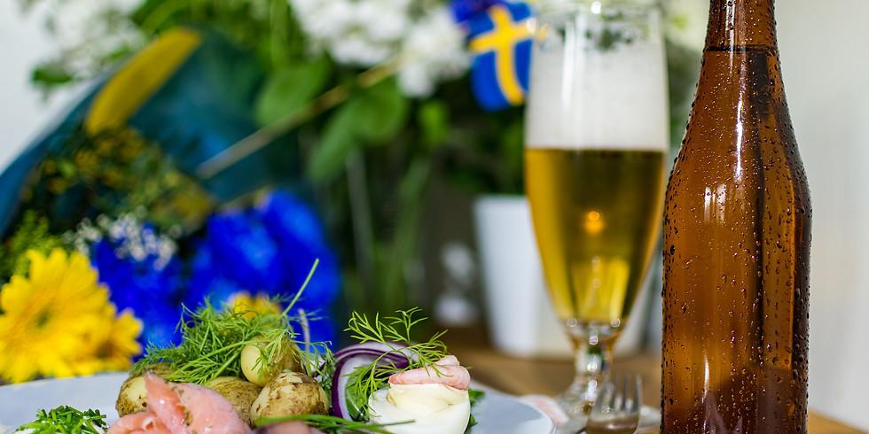 Snöå Bruks traditionella midsommarbuffé