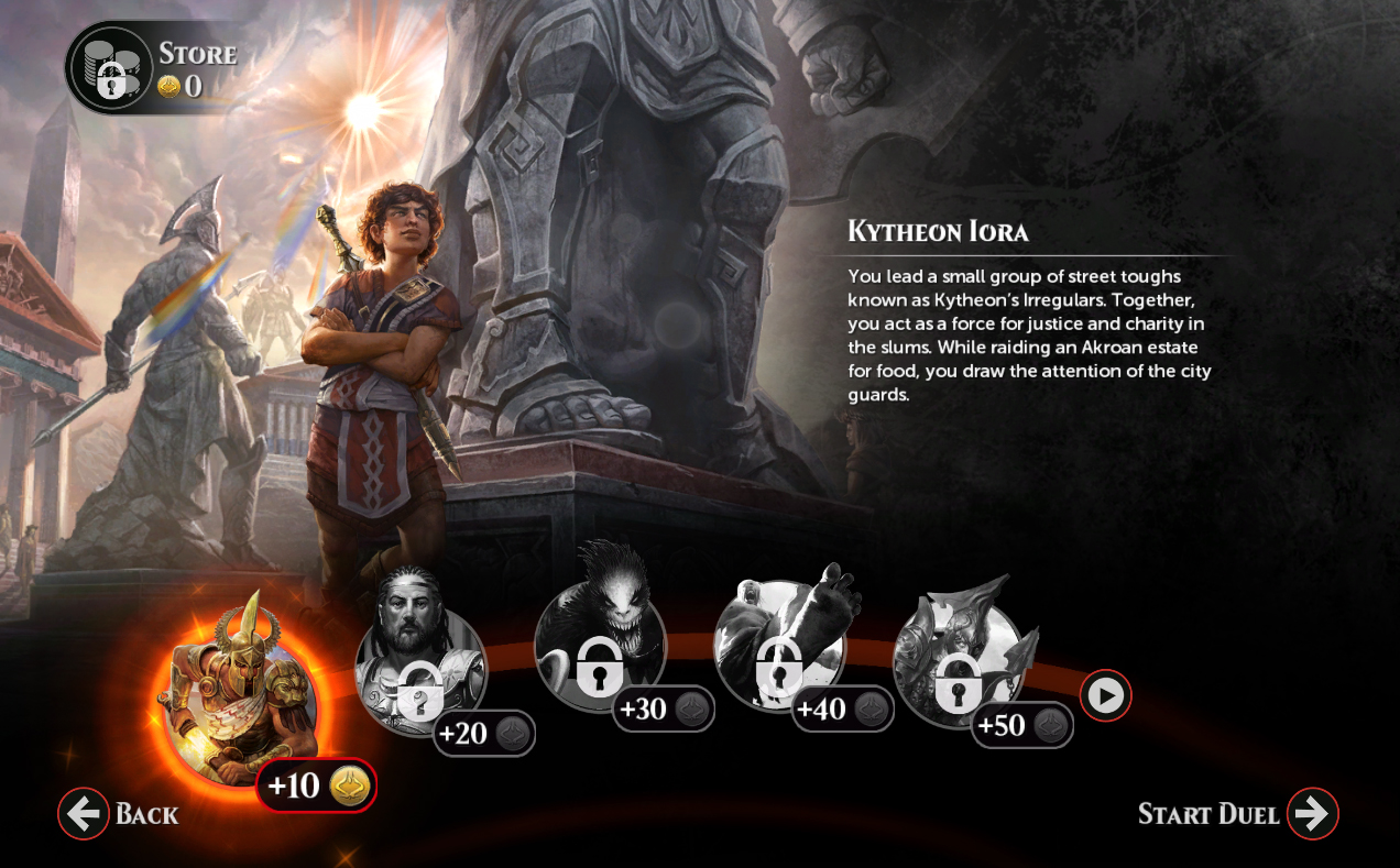 Duels Origins Campaign Screen