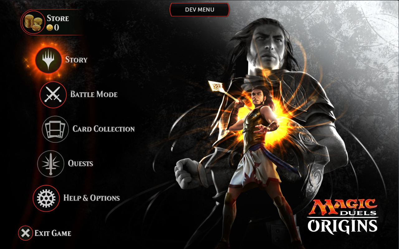 Duels Origins Main Menu