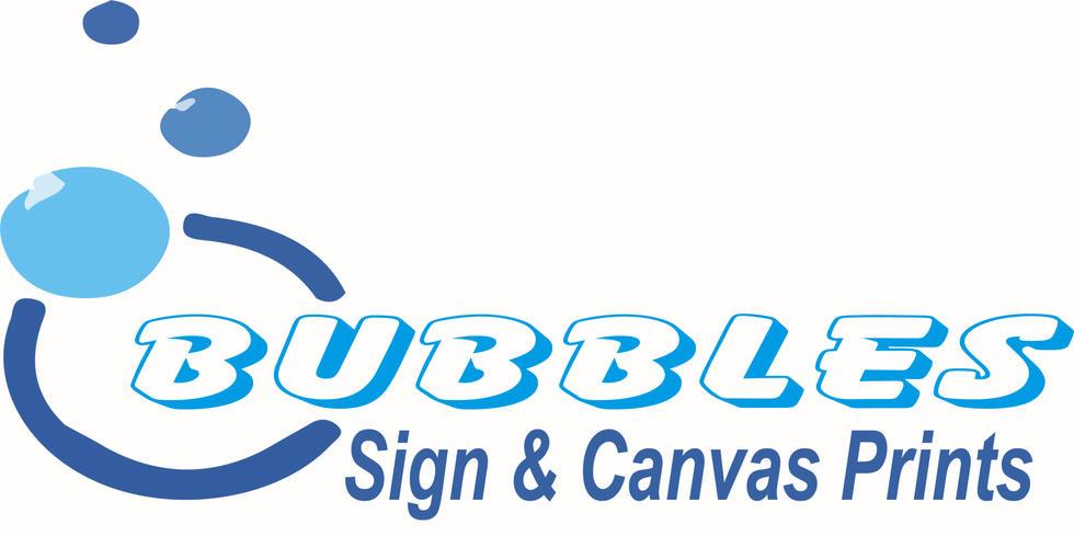 Bubbles Sign & canvas prints