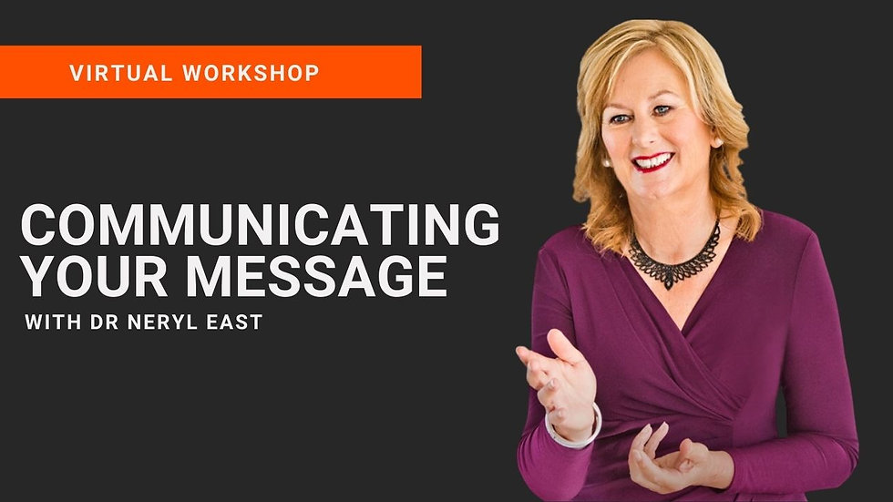 Communicating Your Message Virtual Workshop