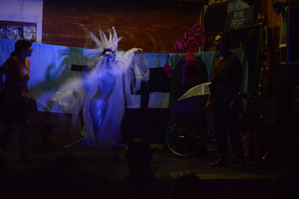 Jenny performs as 'The Sea Creature'