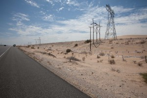 The desert between El Centro and Yum