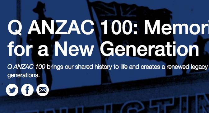 Q ANZAC 100 Fellowship