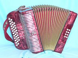 Diatonische Orgel Tell  3chörig C - F rot